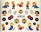 12 NEW CARTOON DESIGNS Nail Art Water Transfers Sticker Decal Wraps DIY!!