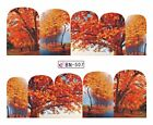 16 NEW FALL AUTUMN TREND Gorgeous Water Transfer Nail Art Sticker Decal Tips DIY