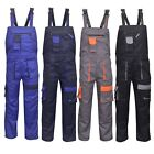 Contrast Painters Work Wear Bib and Brace Overall Coverall Dungaress Heavy Duty