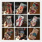 Animals Cartoon Pattern Painting 3D Relief TPU PC Hard Case Cover For iPhone7