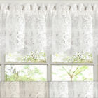 "Hopewell Heavy Floral Lace Kitchen Window Curtain 12"" x 58"" Valance"