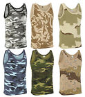 Milspec Surplus Men's Military Style Cotton Camouflage Army Hunting Muscle Vest