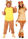 Adults Lion Costume Mens Ladies Animal Couples Fancy Dress Jungle Zoo Outfit NEW