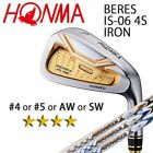 HONMA GOLF JAPAN BERES IS-06 SINGLE IRON (#4,5,AW,SW) ARMRQ X 4S 2018 / 091802