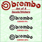 Brembo X 8 Brake Caliper Decal Sticker Graphics Emblem Logo Vinyl High Temp A