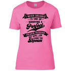 Funny Humorous Perfect Freakin Husband Ladies Premium T-Shirt Sizes 6/8 to 22/24