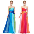 2018 Long Evening Ball Gown Bridesmaid Wedding Prom PartyDress Chiffon Strapless