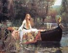 Waterhouse Lady of Shalott In Boat Quilt Block Multi Sz FrEE ShiPPinG WoRld WiDE
