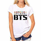 BTS Letters Dance Shirt Graphic Women Clothing 2018 Fashion Summer Blusas Cartoo