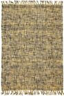 Flatweave Nordern Tasseled Floor Area Rug Cotton Yellow