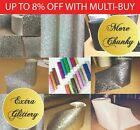 Chunky Glitter 15cm Fabric Wallpaper Border Grade 3 Sold By Metre Black Silver..