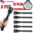 Camping 5PCS 60000LM LED 5 Modes 5x T6 Flashlight Tactical Torch Light Lamp P1