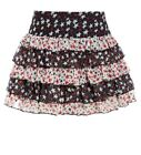 Womens Layered Skirt Ladies Chiffon Short skirts NEW Size 8 10 12 14 Black White