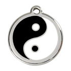 Red Dingo Dog ID Pet Tag Charm FREE Personalized Engraving YING YANG