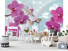 Wall Mural Photo Wallpaper Picture EASYINSTALL Fleece Orchid Flower Pattern Pink