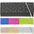 Ladies Glitter Clutch Bag Cocktail Party Bag Purse Glittery Handbag 2079