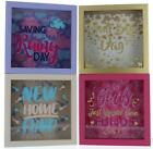 Wooden and Glass Frame Panel Money Box Coins Savings Funds Bank 5 Designs Gift