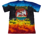 LED ZEPPELIN US Tour 75 official Tie Dye T shirt MEN MEDIUM