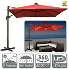 10'x10' Deluxe Hanging Roma Offset Umbrella Heavyduty Sunshade Cantilever
