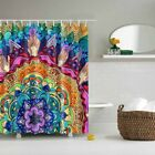 Vintage Character Indian Style Fabric Waterproof Bath Shower Curtain With Hook