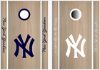 New York Yankees Cornhole Bean Bag Toss Vinyl Decal Set -8pcs- Multiple Colors on Ebay
