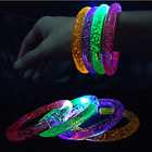Light up bracelet party bag fillers toy bubble flash glow x6 x12 sensory