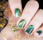 HOT! 14 Tips Holographic Embossed Gold 3D Nail Stickers Self Adhesive Foil DIY! $3.49 USD