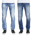 MENS DML PROPHECY SLIM STRAIGHT JEANS IN LIGHT WASH & MID BLUE