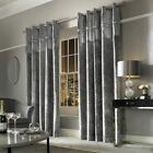 Kylie Minogue VEDA - Designer Eyelett / Ring Top Pleated Velvet Lined Curtains