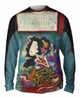 "Yizzam - Japanese Art - ""Good and Evil""-  New Mens Long Sleeve Shirt"