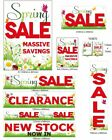 Spring Sale shop Window Posters and Signs advertising display you choose