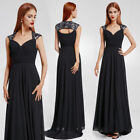 Ever-Pretty Long Formal Cocktail Dress V-neck Backless Wedding Party Gown 09672