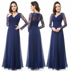 Ever-Pretty Elegant Long Wedding Dresses V-neck Lace Evening Party Gown 08692