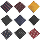 Luxury Men's Silk Handkerchief 22CM Plaid Pocket Square Hanky For Wedding Party