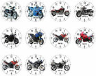 Wall Clock with Motif: Triumph Motorcycle Biker Motorcycle Motif Biker Motifs €23.72 EUR on eBay