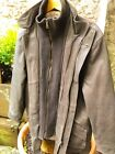 MENS AUSTIN REED BROWN LEATHER TOWN & COUNTRY JACKET SIZE L/XL SHOOTING/HUNTING