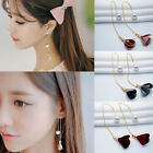 Fashion Elegant Gold Silver Plated Crystal Flower Drop Dangle Long Chain Earring