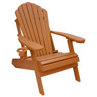 Deluxe Outer Banks Poly Folding Adirondack Chair w/ Cup Holder- Standard Colors cheap