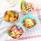6 Color Food-Grade Plastic Square Fruit Snack Candy Salad Plate Bowl Dish Basket