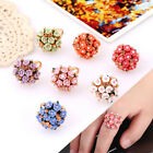 New Simple Women Aolly Ceramics Flowers Ring Charm Crystal Ring Jewelry Gift