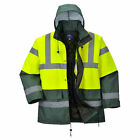 Portwest US466 Hi-Visibility Contrast Traffic Parka Yellow/Green - NEW!