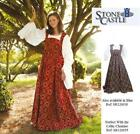 Medieval Renaissance Fleur de Lis Dress. Ideal for Re-enactment Costume LARP