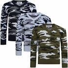 Boys V-neck Camouflage Knitted Jumper Kids Pullover Long Sleeve Sweater 3-12 Y