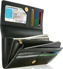 Genuine Leather Wallets For Women's Ladies Wallet Clutch Accordion RFID Blocking