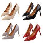 high heels stilettos - Patent Leather Shallow Pointed Toe Stiletto High Heels Sexy OL Women Pumps Shoes