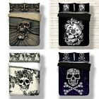 New Gothic Skull Duvet Cover Set Twin/Full/Queen/King Size+Pillowcase Bed Set