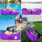 Inflatable Portable Air Sofa Lounge Camping Beach Outdoor Patio Carry Bag Couch