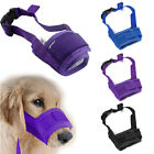 2PCS Nylon Pet Dog Muzzle Mouth Grooming No Bark Bite Adjustable Safety S/M/L/XL