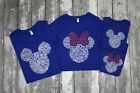 polygon pictures and names - Disney Family T-Shirts Mickey & Minnie Ears w/ Character Names - Blue, Black