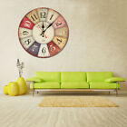 Wooden Wall Clock Modern Design Vintage Rustic Shabby Chic Home House Decoration
